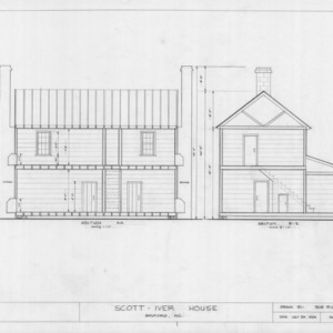 Sections, Evandor McIver House, Sanford, North Carolina