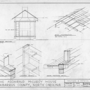 Cross section and details, McCurdy Log House, Cabarrus County, North Carolina