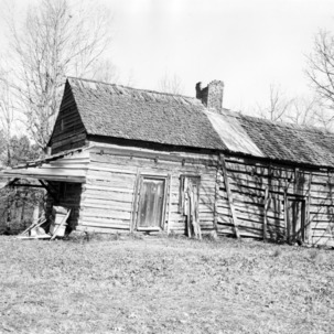 Side view, McCurdy Log House, Cabarrus County, North Carolina