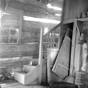 Stair detail, McCurdy Log House, Cabarrus County, North Carolina