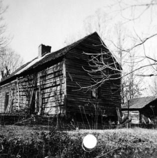 View, McCurdy Log House, Cabarrus County, North Carolina