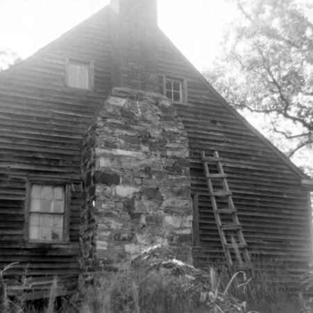 View with chimney, Joseph Welborn House, Randolph County, North Carolina
