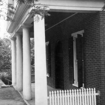 Porch, Milton Presbyterian Church, Milton, North Carolina