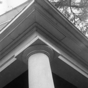 Column detail, Milton Presbyterian Church, Milton, North Carolina