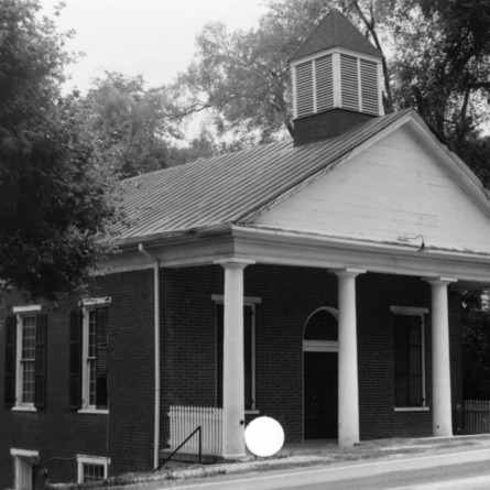 Front view, Milton Presbyterian Church, Milton, North Carolina