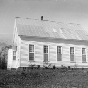 Side view, Zion Methodist Church, Montgomery County, North Carolina