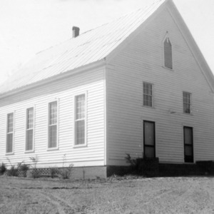Front view, Zion Methodist Church, Montgomery County, North Carolina