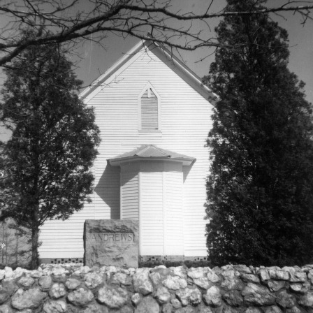 Rear view, Zion Methodist Church, Montgomery County, North Carolina
