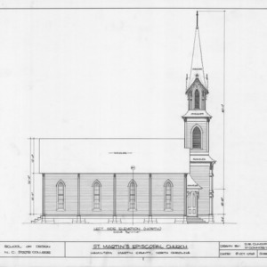 North elevation, St. Martin's Episcopal Church, Hamilton, North Carolina