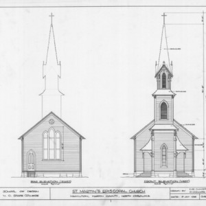 East and west elevations, St. Martin's Episcopal Church, Hamilton, North Carolina