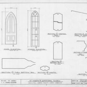 Details, St. Martin's Episcopal Church, Hamilton, North Carolina