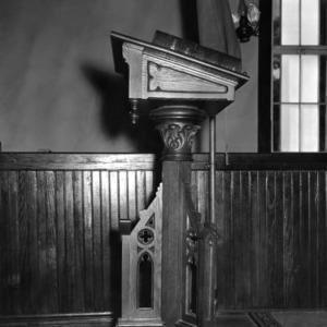 Pulpit detail, St. Martin's Episcopal Church, Hamilton, North Carolina