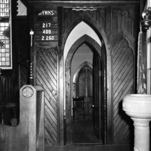 Interior detail, St. Martin's Episcopal Church, Hamilton, North Carolina