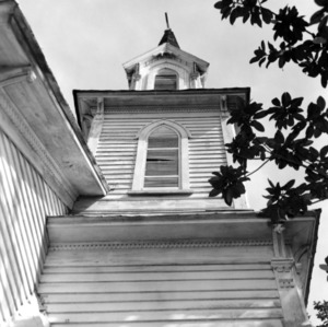 Roof detail with steeple, St. Martin's Episcopal Church, Hamilton, North Carolina