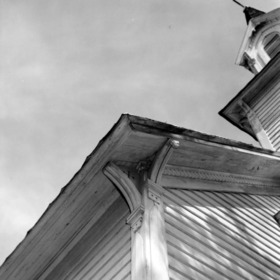 Roof detail, St. Martin's Episcopal Church, Hamilton, North Carolina