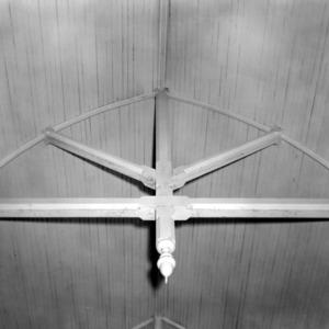 Interior roof detail, St. Martin's Episcopal Church, Hamilton, North Carolina