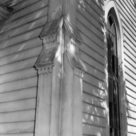 Exterior detail with window, St. Martin's Episcopal Church, Hamilton, North Carolina