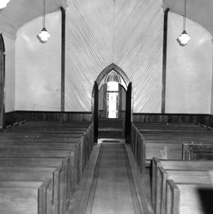 Interior view, St. Martin's Episcopal Church, Hamilton, North Carolina