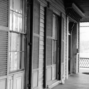 Porch with window detail, Wynne House, Raleigh, North Carolina