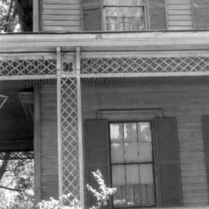 Porch detail with windows, Wynne House, Raleigh, North Carolina