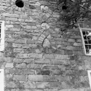 Exterior brick detail, Ezekiel Wallis House, Mecklenburg County, North Carolina