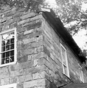 Exterior detail with roof and windows, Ezekiel Wallis House, Mecklenburg County, North Carolina