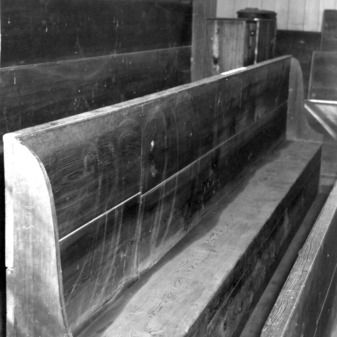 Pews, Old St. Paul's Lutheran Church, Catawba County, North Carolina