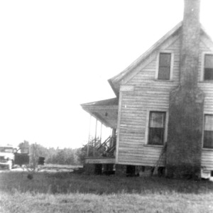 Side view with chimney, Richardson's Place, Wake County, North Carolina