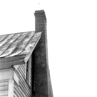 Roof detail with chimney, Richardson's Place, Wake County, North Carolina