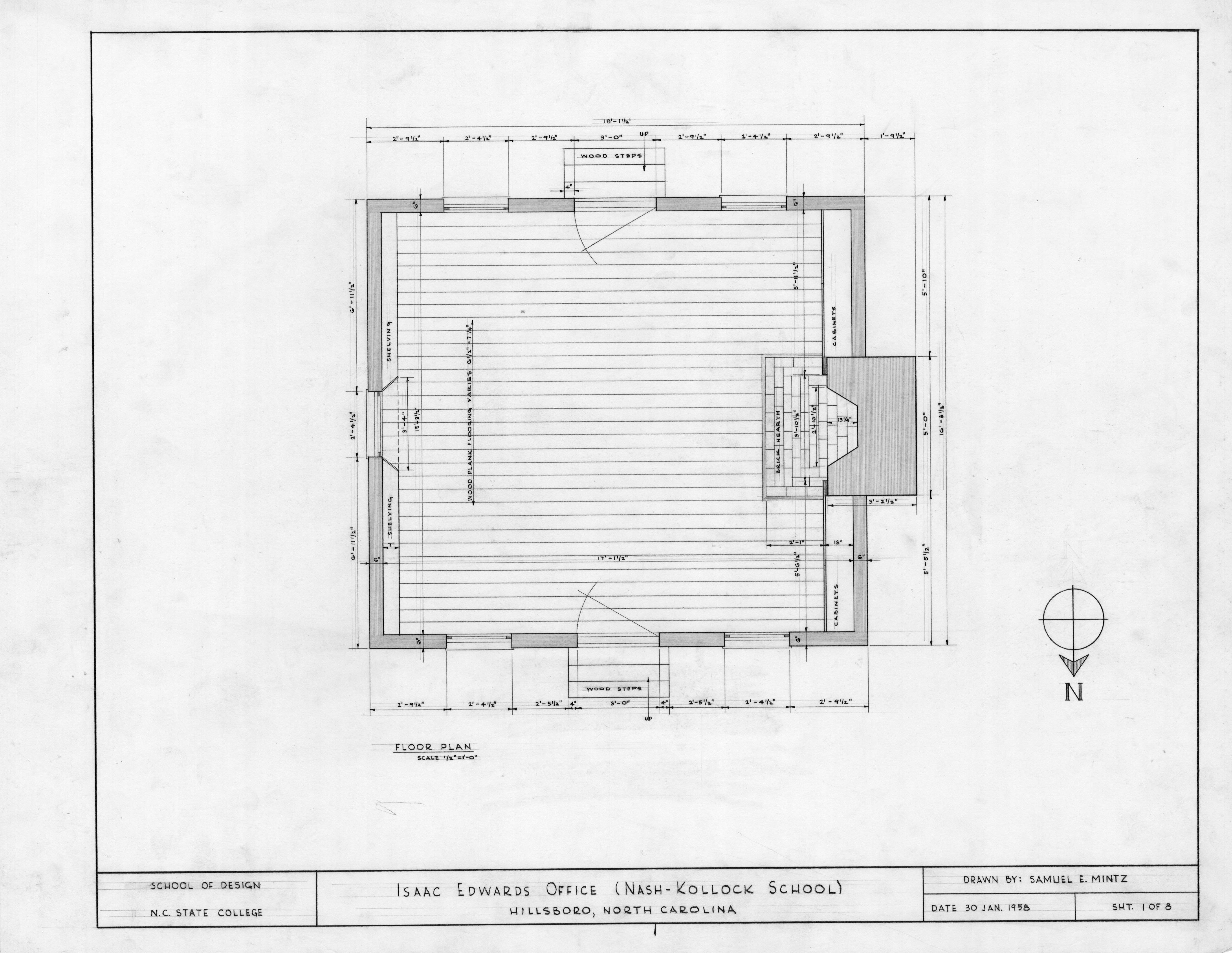 Law Office Floor Plan: Floor Plan, Cameron-Nash Law Office, Hillsborough, North