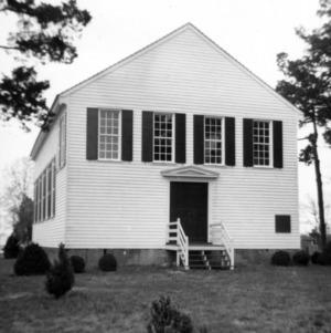 Front view, St. John's Episcopal Church, Williamsboro, North Carolina