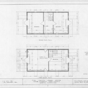 Floor plans, Calvin Jones House, Wake Forest, North Carolina
