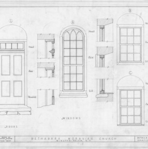 Door and window details, Bethabara Gemeinhaus, Winston-Salem, North Carolina