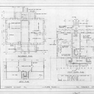 Floor plans, Cedar Grove, Mecklenburg County, North Carolina