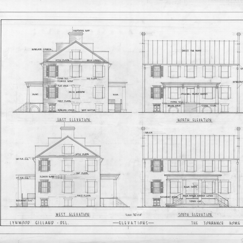 Elevations, Cedar Grove, Mecklenburg County, North Carolina