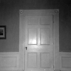 Interior door detail, Cedar Grove, Mecklenburg County, North Carolina