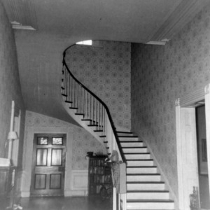 Interior view with stairs, Cedar Grove, Mecklenburg County, North Carolina