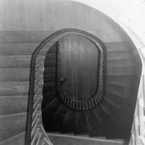 Interior stair detail, Cedar Grove, Mecklenburg County, North Carolina