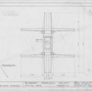 Plan, Norfleet Cotton Press, Tarboro, North Carolina