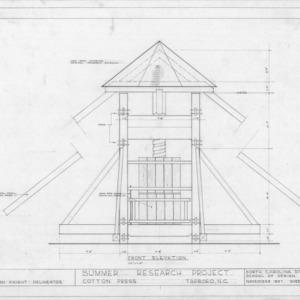 Front elevation, Norfleet Cotton Press, Tarboro, North Carolina