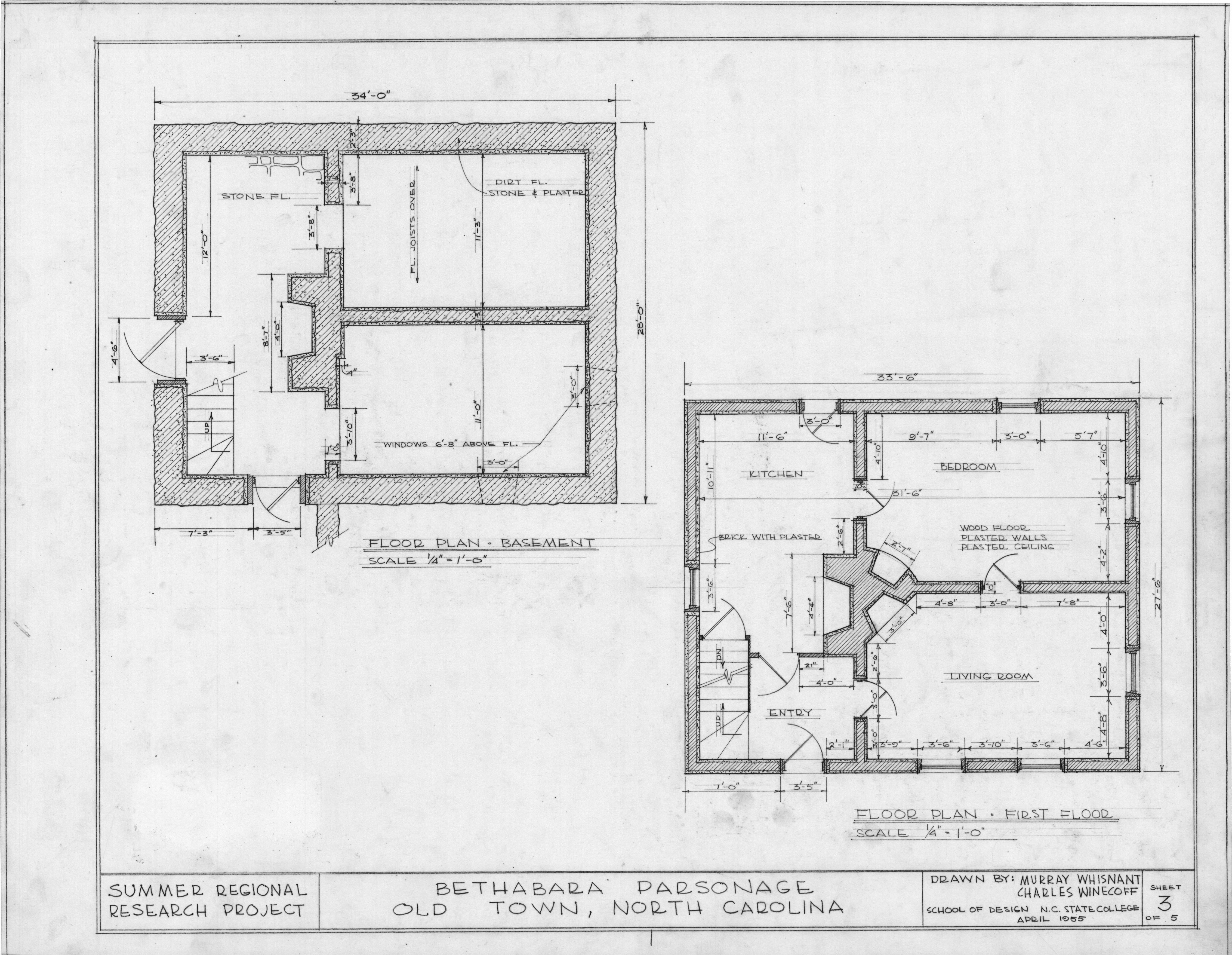 Floor Plans Brewer 39 S House Winston Salem North Carolina