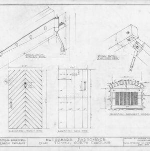 Details, Brewer's House, Winston-Salem, North Carolina
