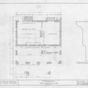 Foundation plan and detail, Hare Plantation, Como, North Carolina