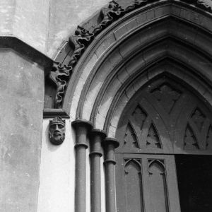 Entrance detail, St. James Episcopal Church, Wilmington, North Carolina