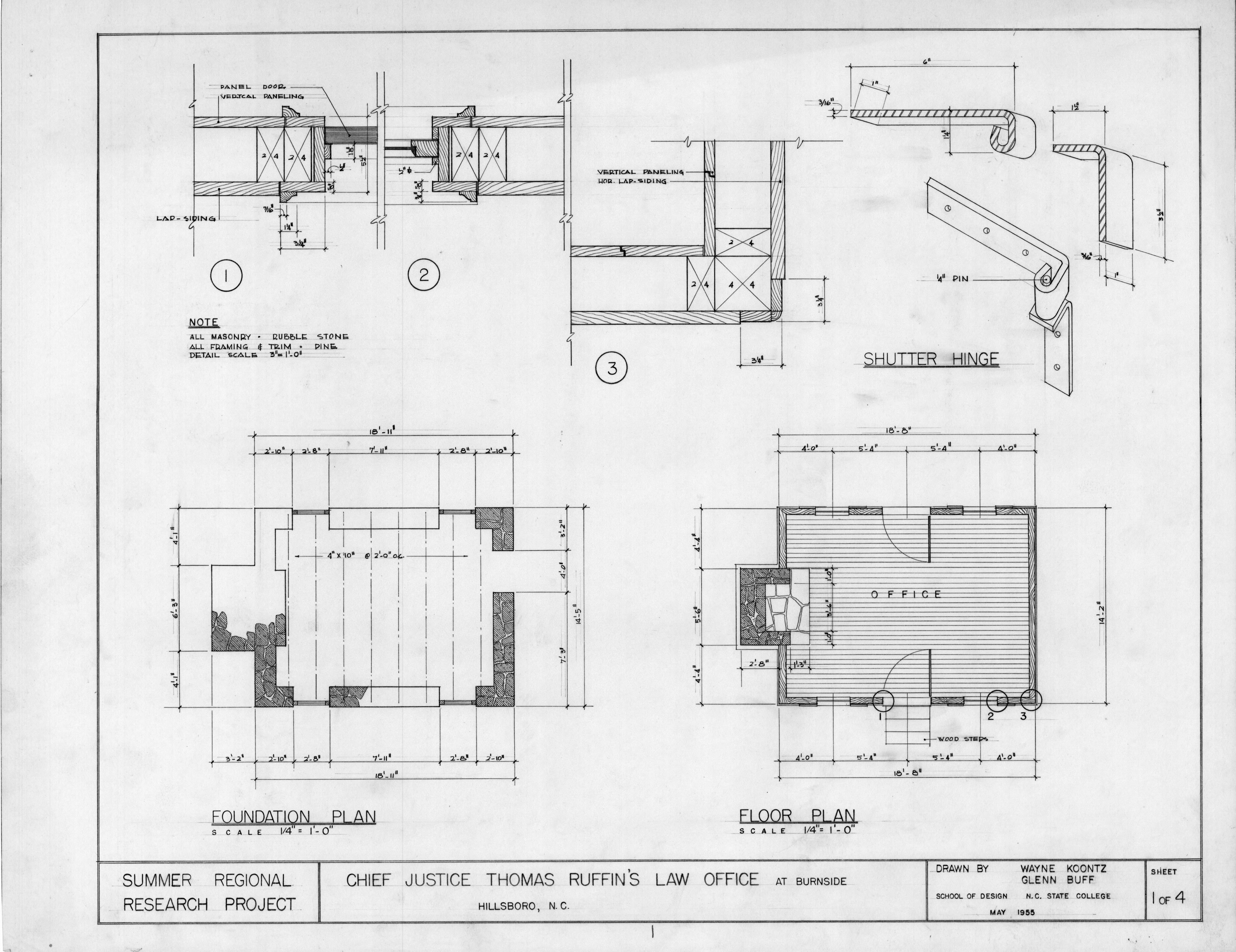 Foundation Plan Floor Plan And Details Thomas Ruffin