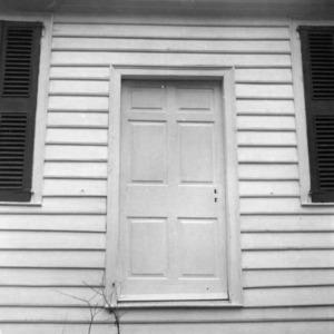 Door detail, Thomas Ruffin Law Office, Hillsborough, North Carolina