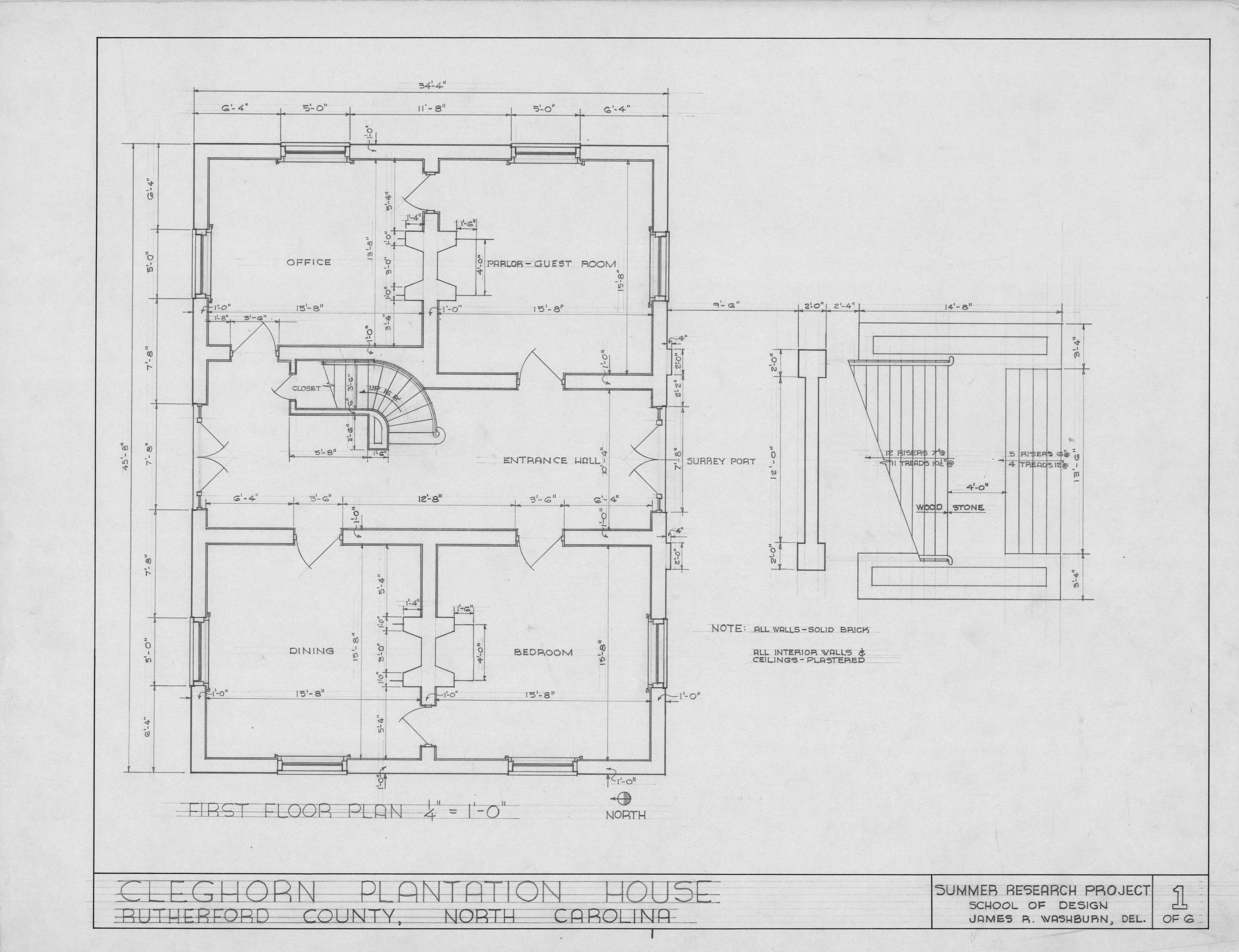 First floor plan cleghorn rutherford county north for Rutherford house plan
