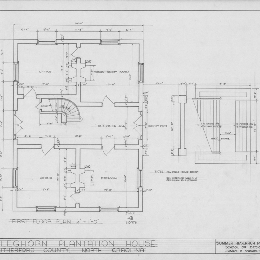 Ncsu libraries 39 rare and unique digital collections search for Rutherford house plan