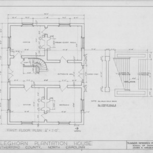 First floor plan, Cleghorn, Rutherford County, North Carolina