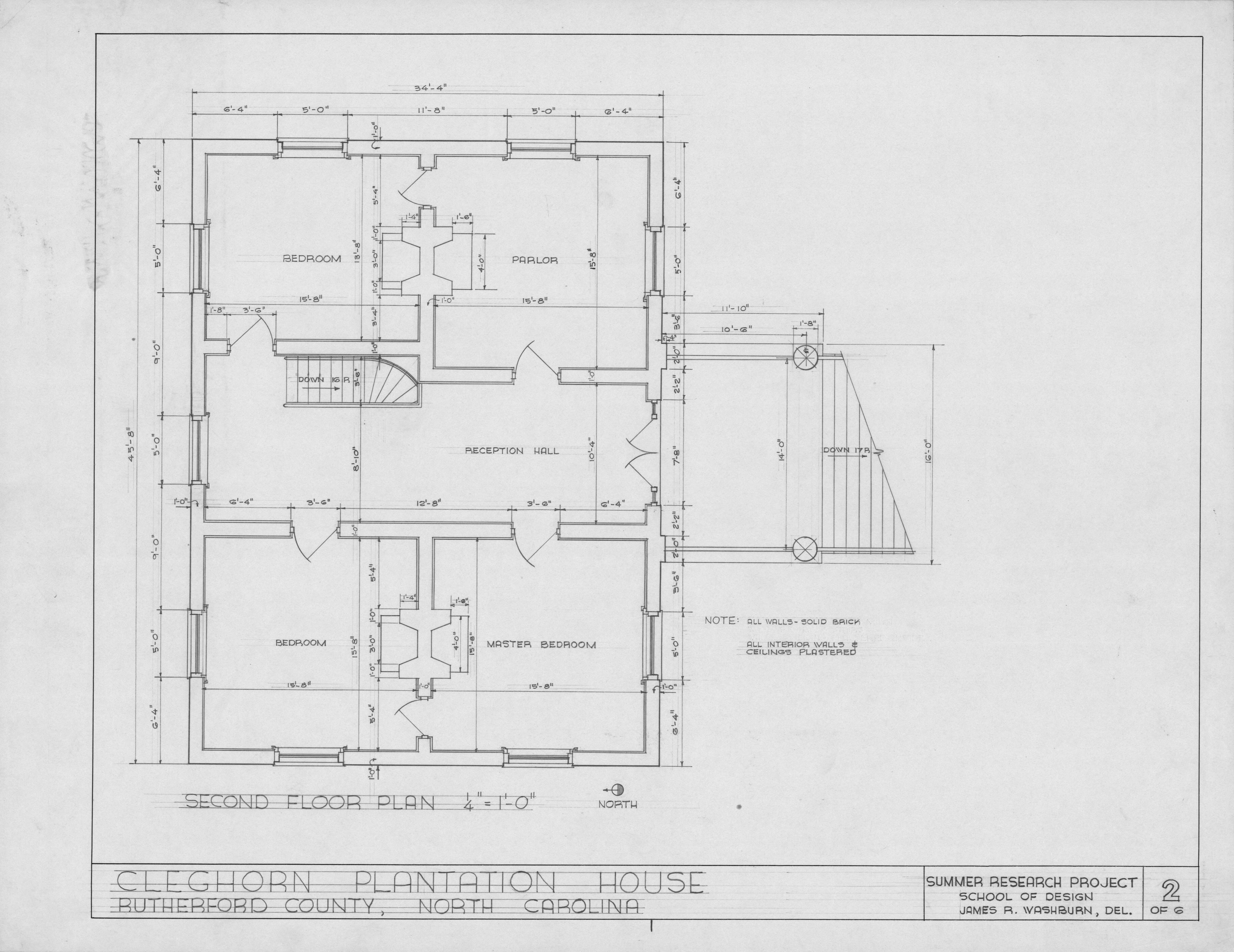 Second floor plan cleghorn rutherford county north for Rutherford house plan